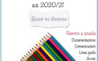 Rientro a scuola a.s. 2020-21