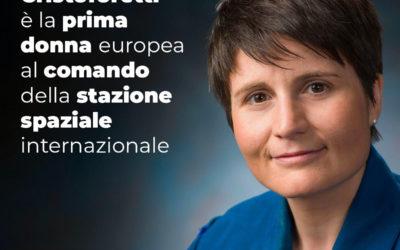 Samantha Cristoforetti è la prima donna europea al comando della stazione spaziale internazionale