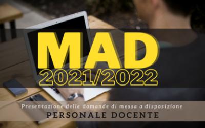 Domanda di messa a disposizione (MAD) per il personale docente a. s. 2021/2022