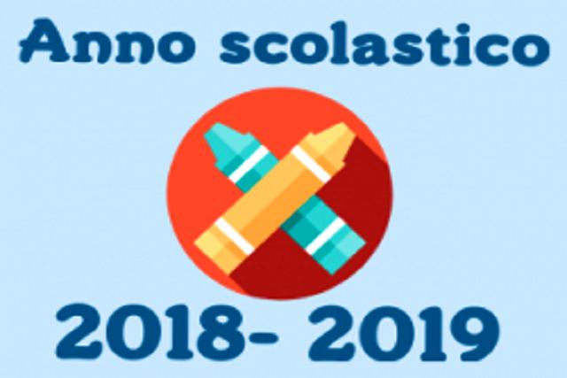 Calendario scolastico anno 2018/19