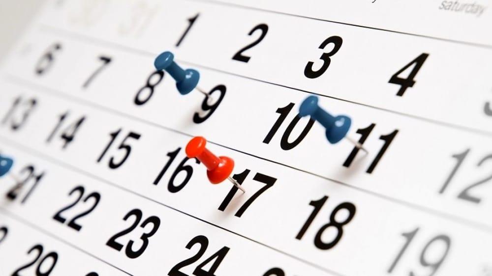 Calendario impegni Settembre 2019 (SP e SSPG)