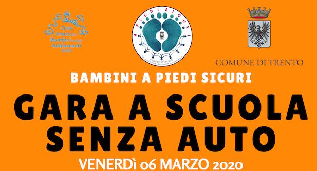 GARA A SCUOLA SENZA AUTO (scuola primaria) – 6 marzo 2020