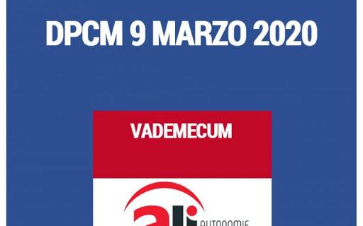 CORONAVIRUS DPCM 9 MARZO 2020 VADEMECUM