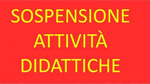 SOSPENSIONE ATTIVITA' DIDATTICHE (fino al 10 giugno 2020)